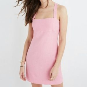 Madewell   Pink Rose Cross Back Mini Dress